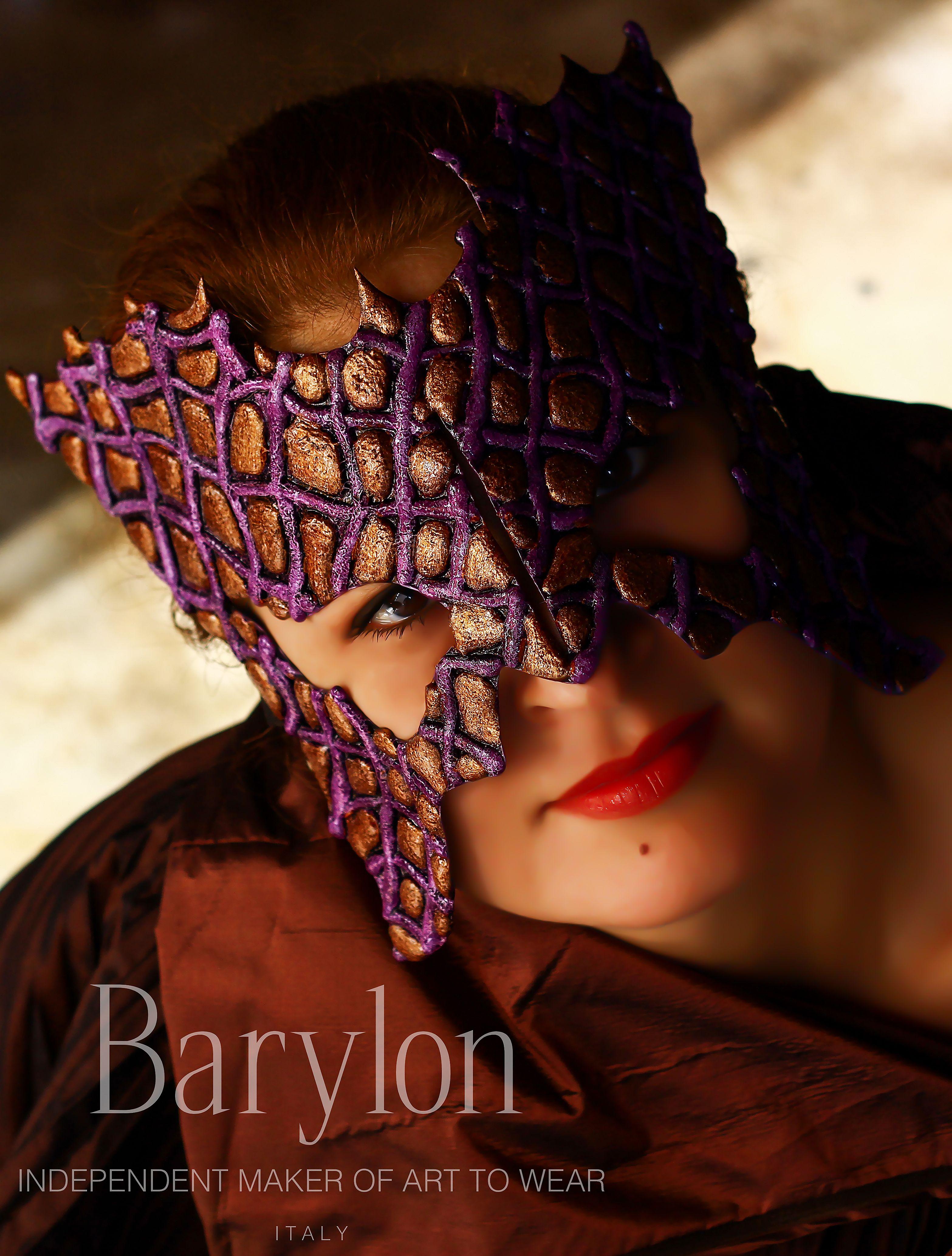 """Barylon - """"Maschera D'Arte"""" - Original signed unique piece - Italy - www.barylon.etsy.com"""