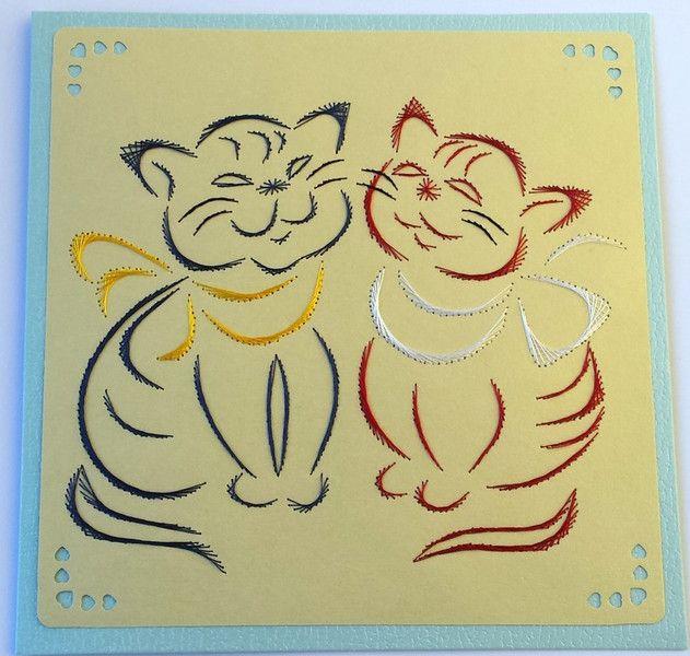 Fadengrafik+Karte+Katzen+02+-+niedliche+Kätzchchen+von+Rene´s+ ...