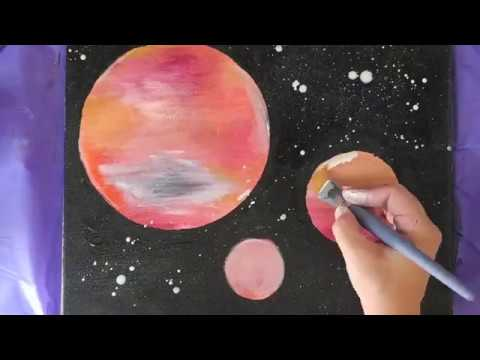 Easy Galaxy Painting for Kids (or adults), Simple and Fun!