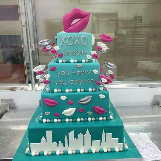 Gossip Girl Themed Cake