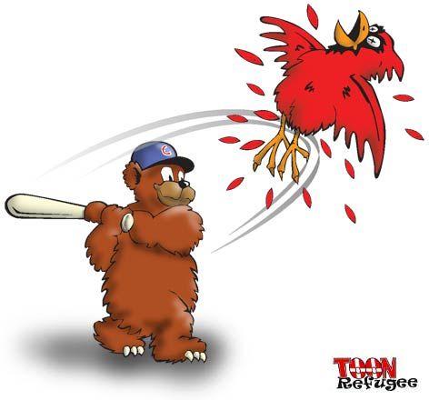 Cubs Slug Cards — TOONrefugee: Cartoon Blog   Chicago cubs funny, Chicago  cubs fans, Cubs cardinals