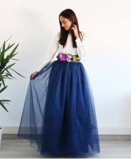 38ffe7802 Falda Carrie Azul Marino   Dresses   Faldas de tul, Falda tul boda y ...