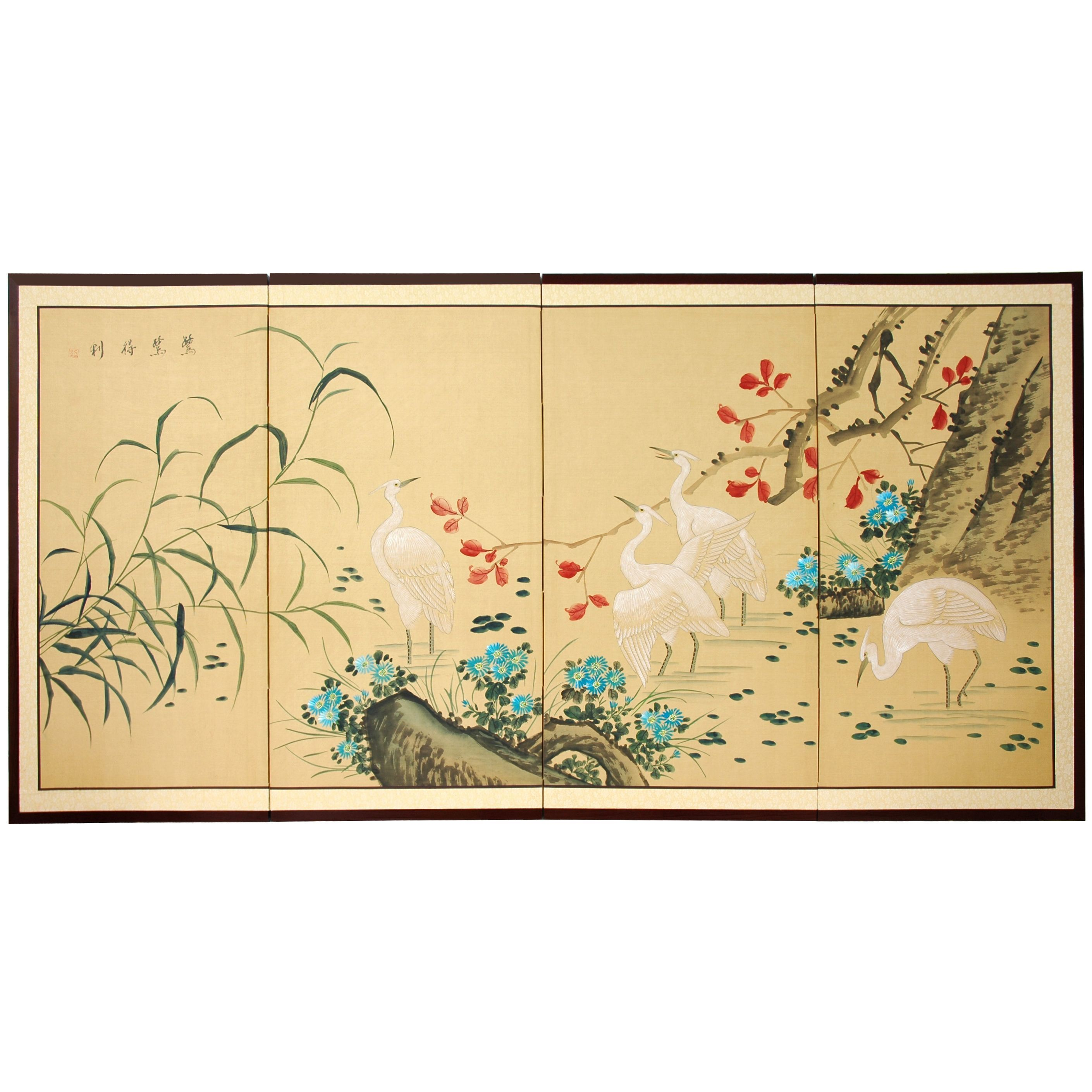 Elegantly handcrafted by a family in China, this silk framed wall ...