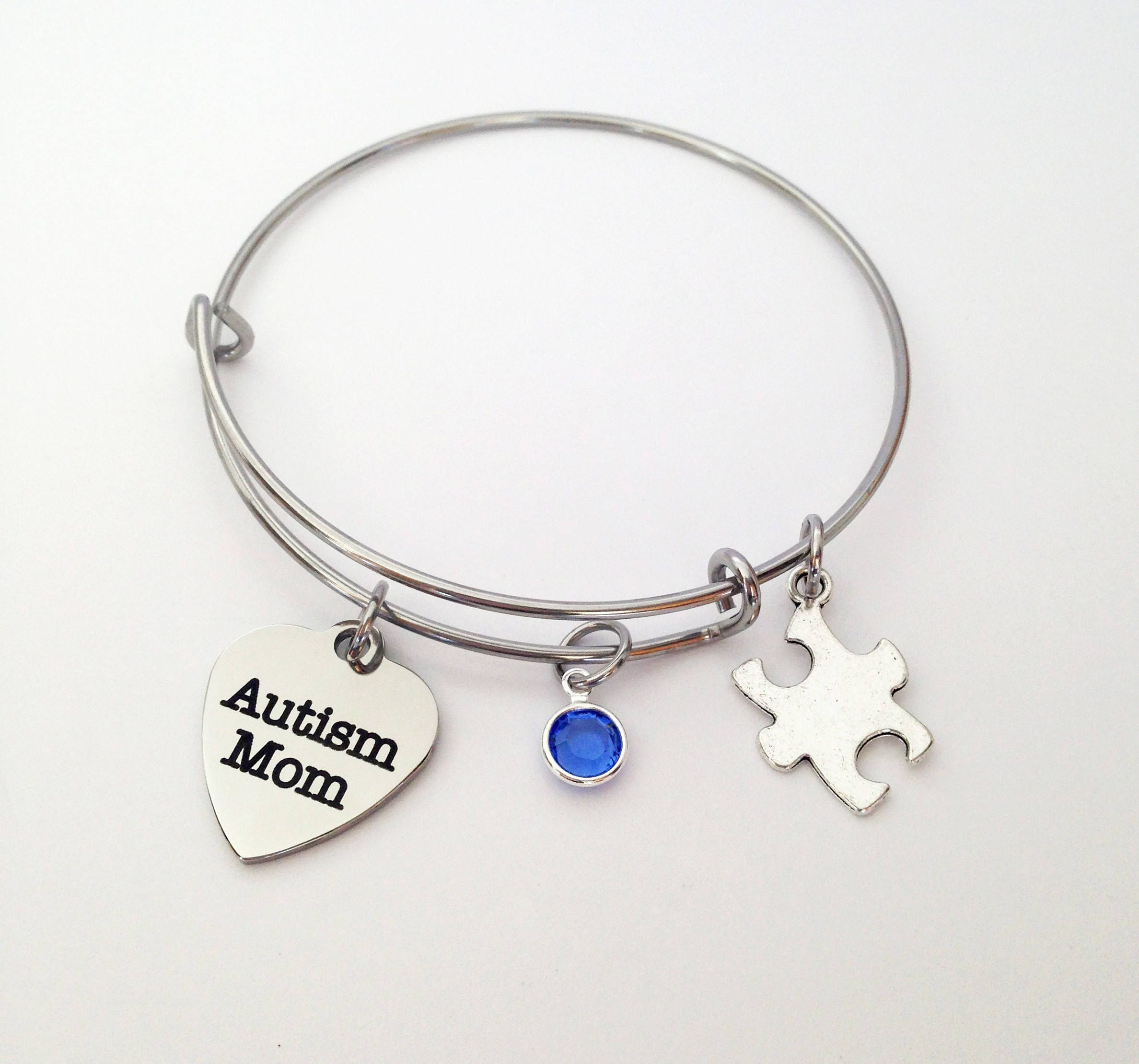mother daughter solid sterling feet baby polished awareness hand hearts bangle unique gift products bracelet personalised handstamped uk smooth present wide jewellery handmade love stamped autism always sillver mum silver son special her