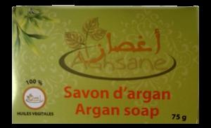Savon d'argan Savon d'argan est aujourd'hui un produit reconnu pour ses bienfaits et ses vertus tant pour la beauté que la santé. - il est 100% naturel et bio, - il contient 65 % d'argan, - il ne contient ni colorant, ni additifs, ni parfum synthétique, - arôme par les huiles essentiels naturels, Savon d'argan est fabriqué à Base d'huile d'argan, savon de soin quotidien du corps, et visage.