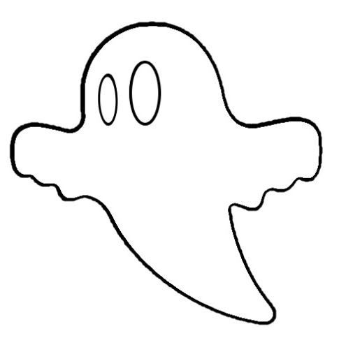 Ghost pattern. Use the printable outline for crafts, creating ...