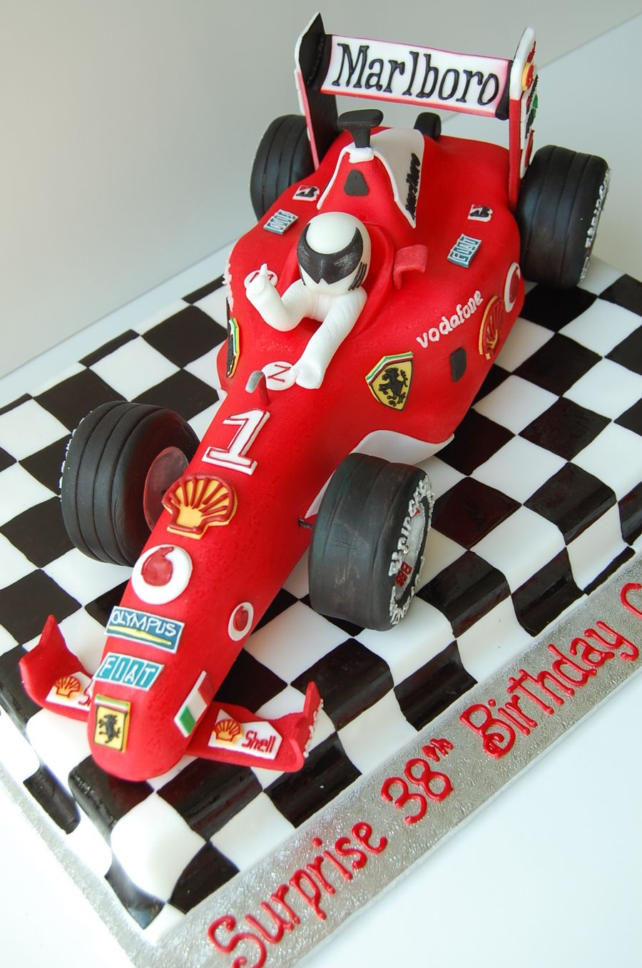 Ferrari F1 Race Car Birthday Cake By Charmpastry on Cake Central