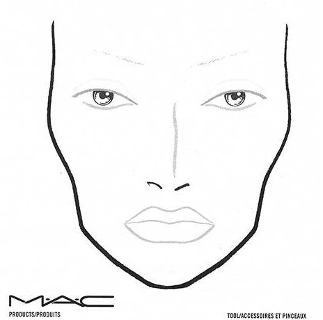 MAC FACE CHART BLANK   Mac face charts, Makeup charts ...