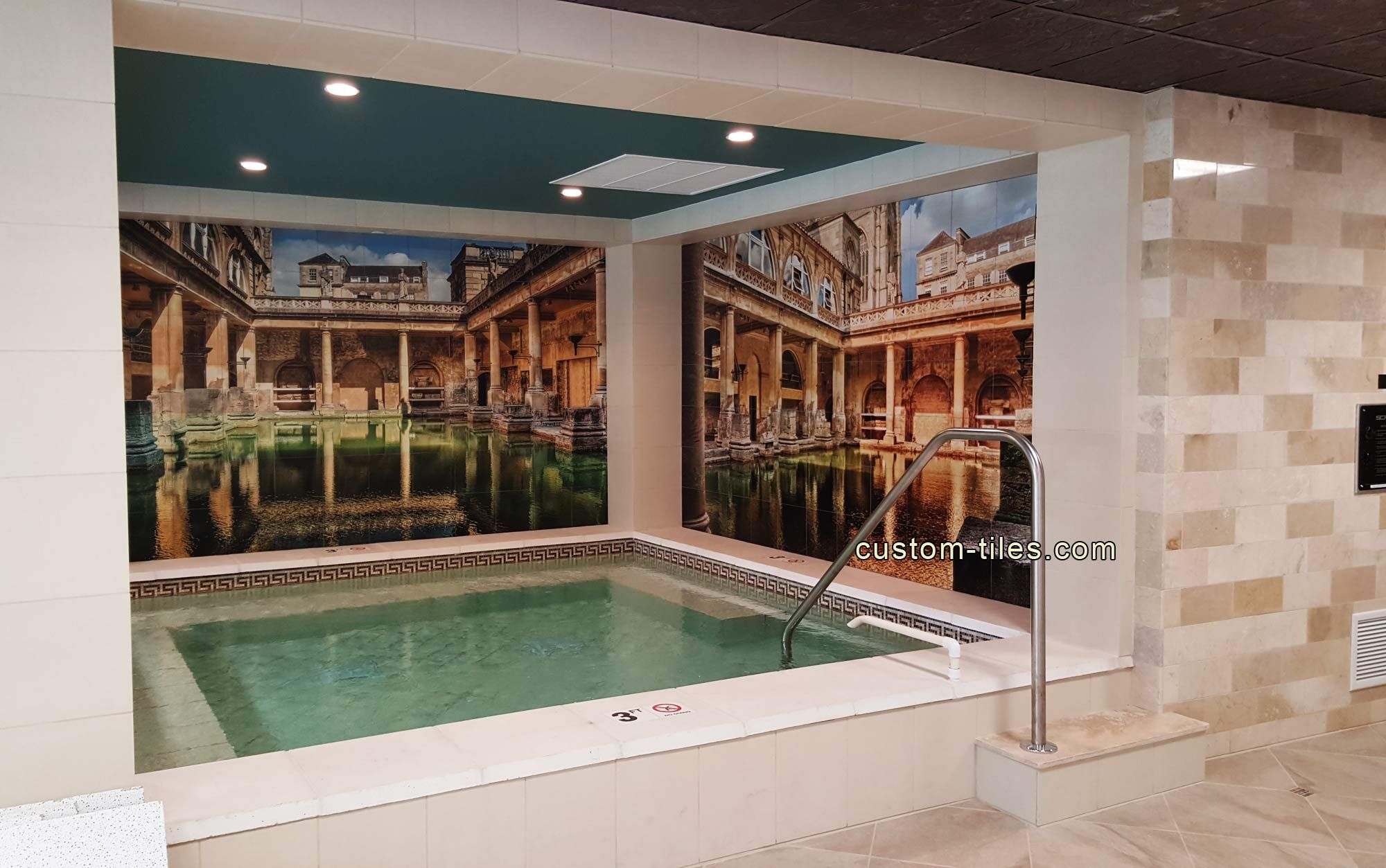 CUSTOM TILE MURAL Pictures On Tile For Swimming Pool Area Edgewater - Ceramic tile stores nj