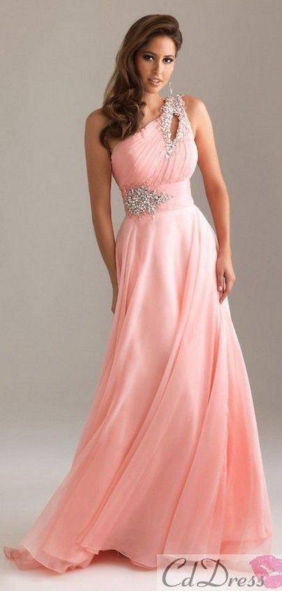 I love the color and the one shoulder!! also the sparkle belt is so ...