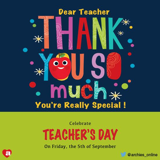 Happy Teacher S Day Gratitude Gift Teacher School Learn Fun Shop Offer Archiesonline Archies