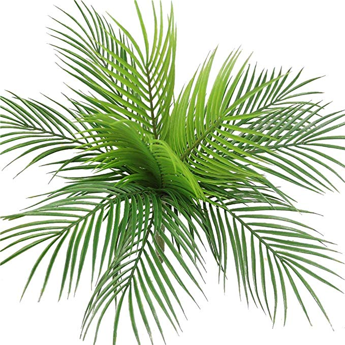 Artificial Palm Tree Faux Leaves Green Plants Greenery for wedding Home Decor