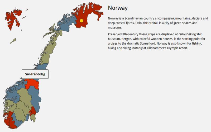 Javascript Map of Norway Norway, Map, Javascript