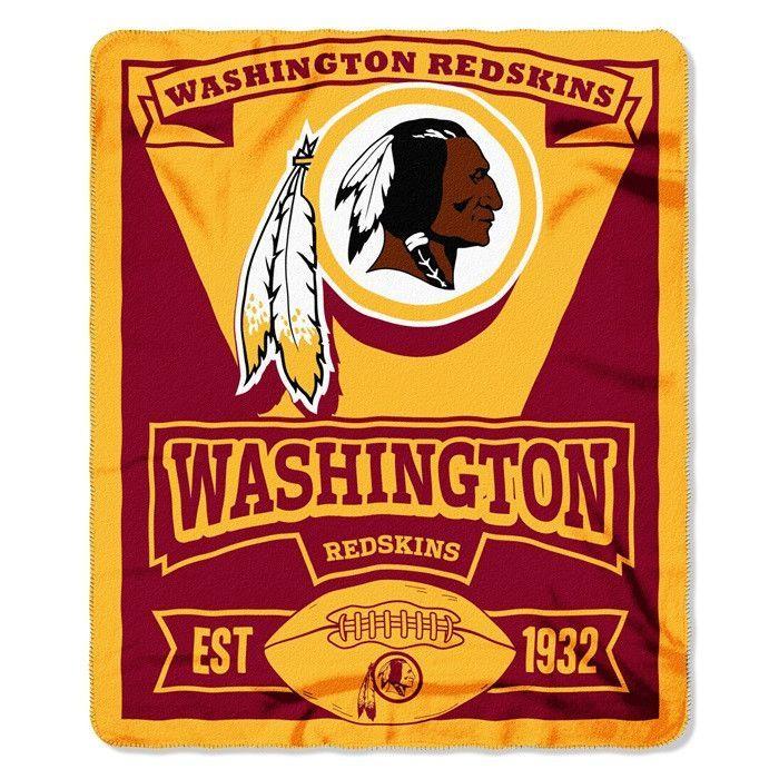 The NorthWest Co Washington Redskins Football Established 40 Simple Redskins Throw Blanket