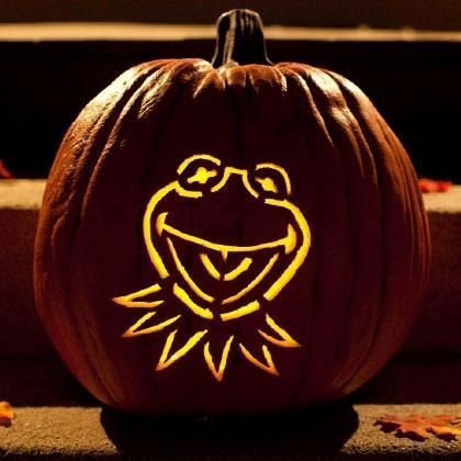 Kermit the Frog Pumpkin-Carving Template #pumkincarvingdesigns