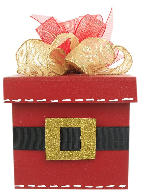 99d540f7f8f48 Caja de Madera Santa Claus   Roja   Navidad 2014   Adorno   Decoración