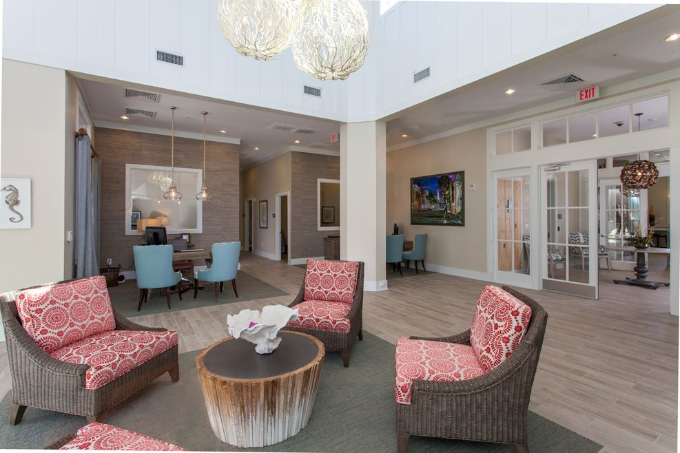 Leasing Lobby Broadstone Seaside Crosby Design Group Charleston Sc