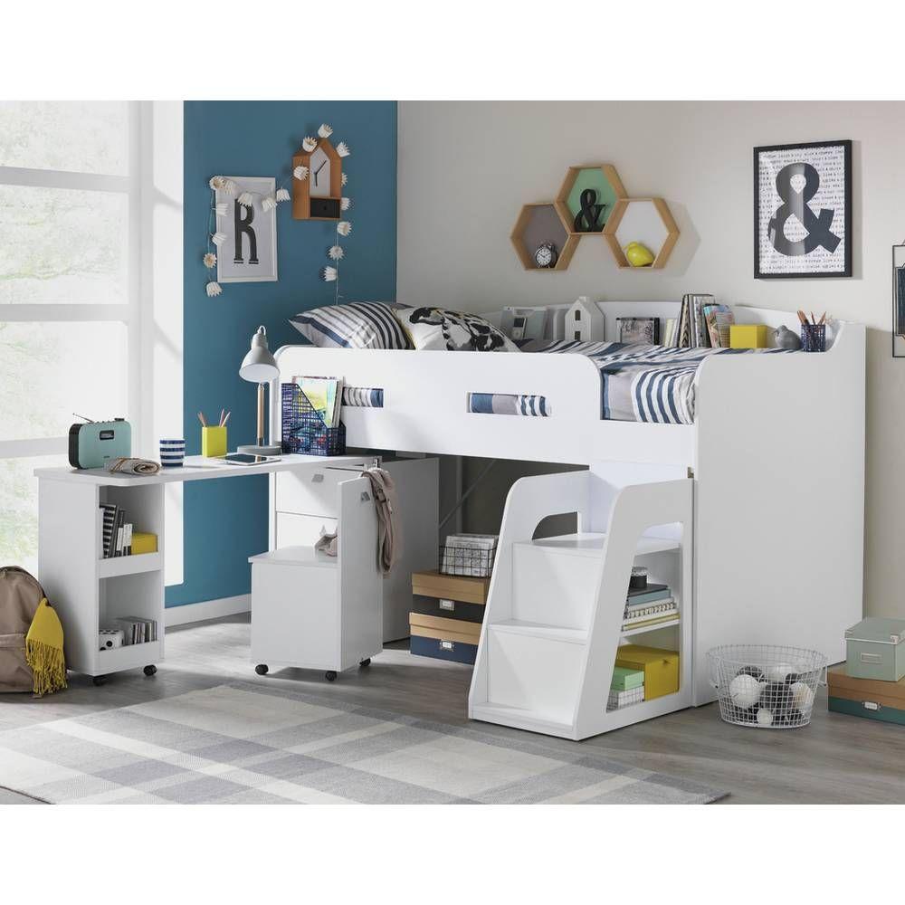 Buy Argos Home Ultimate Storage Beech Mid Sleeper Bed ...