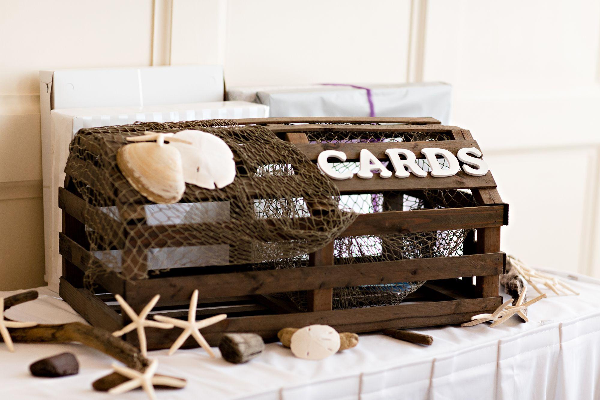 Lobster Trap Card Box | Wedding | Pinterest | Lobster trap, Wedding ...