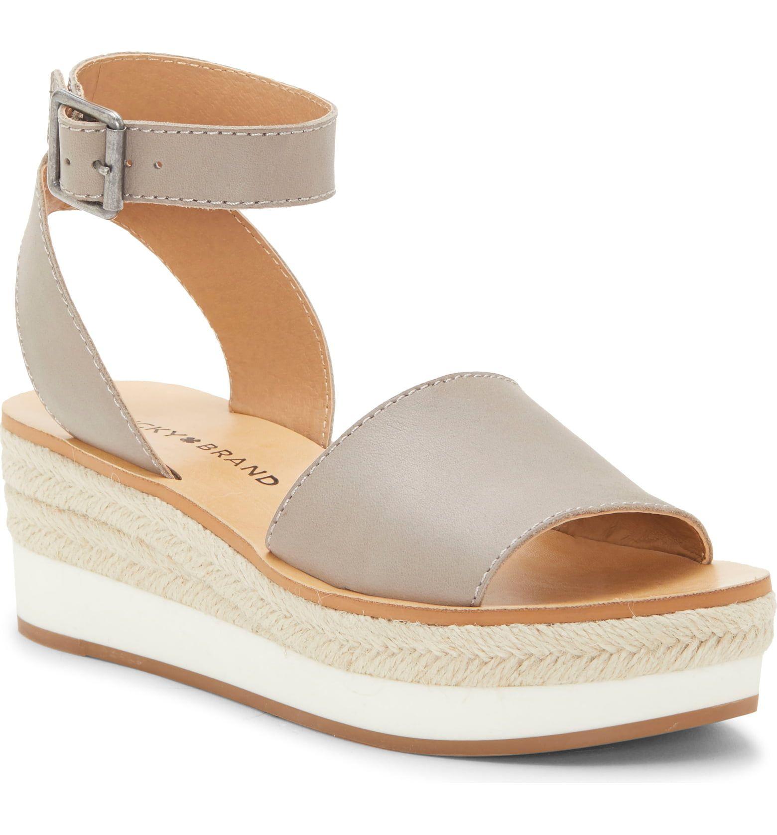 Leather espadrilles, Platform wedge sandals