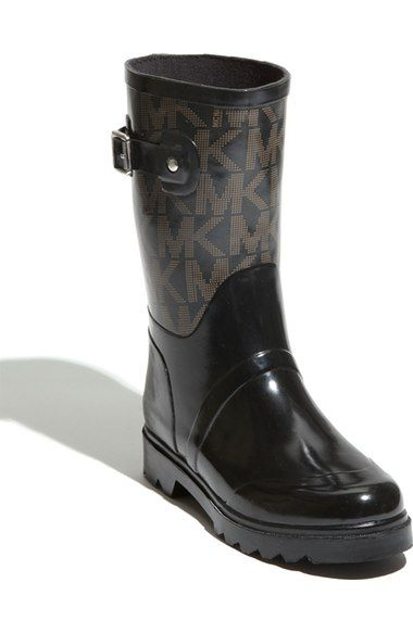 MICHAEL Michael Kors 'Logo - Mid' Rain Boot (Women) available at #Nordstrom