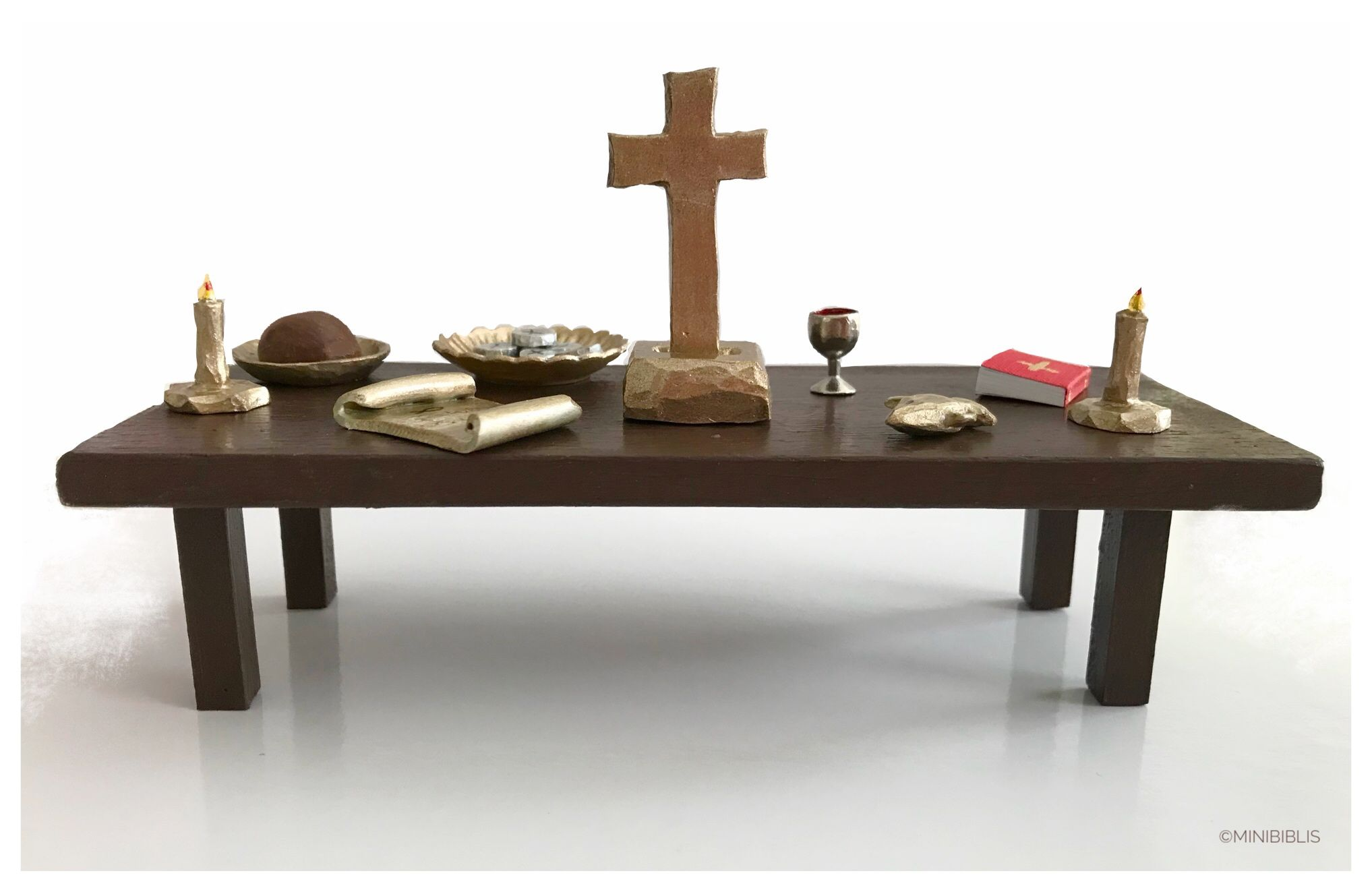 Last Supper Set Peg Dolls Apostles Jesus With Symbols Attributes