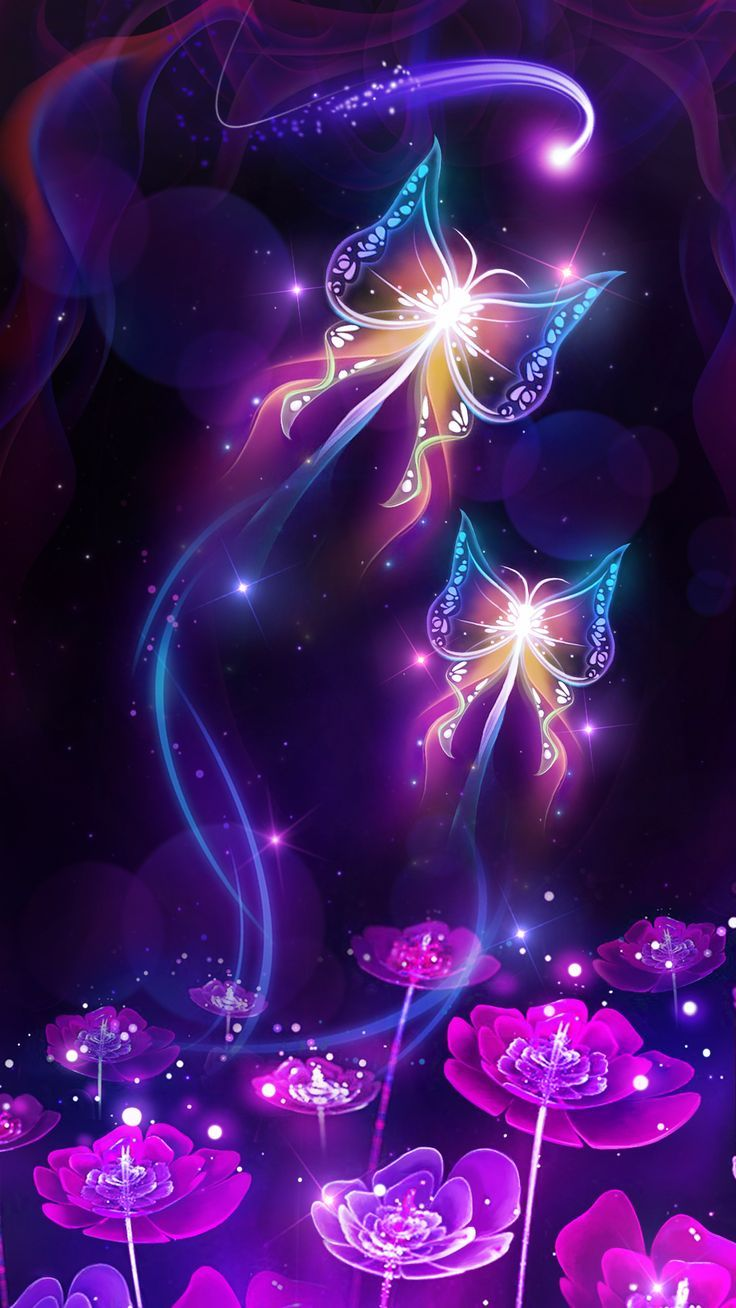 Shiny neon butterfly live wallpaper! Android live wallpaper/background! It is originally designed by Ahatheme!