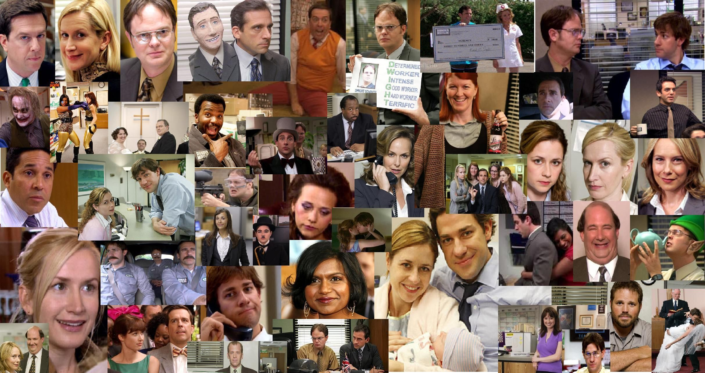the office desktop collage