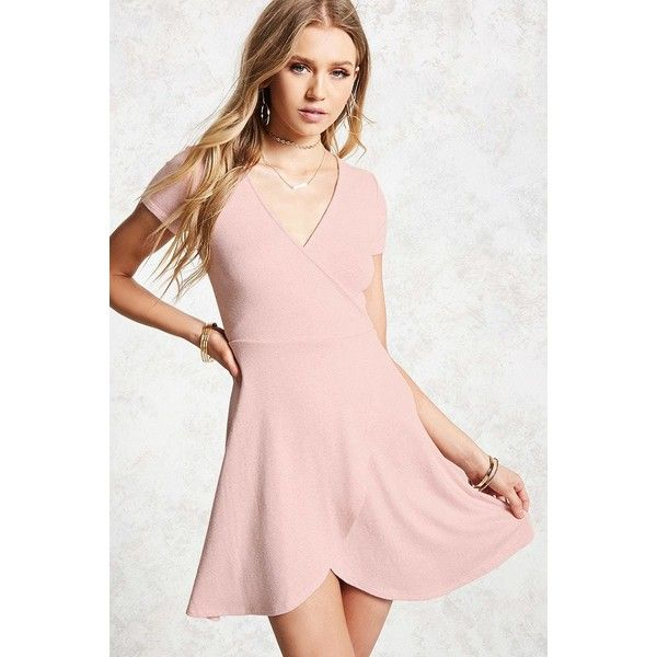 e1811df9d6 Forever21 Heathered Skater Dress ( 15) ❤ liked on Polyvore featuring dresses