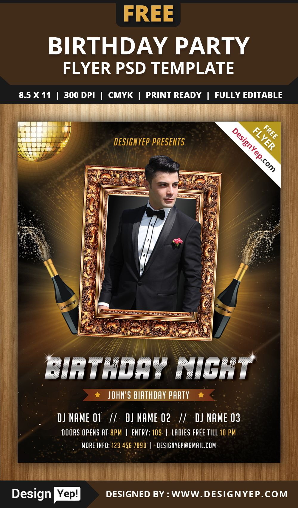 Free birthday flyer psd template 2616 designyep free flyers free birthday flyer psd template 2616 designyep maxwellsz