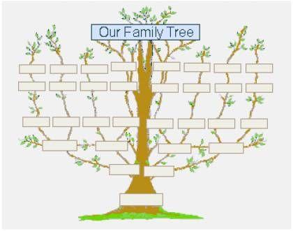 Printable Family Tree For Child  GreentegrationCom  Home  H