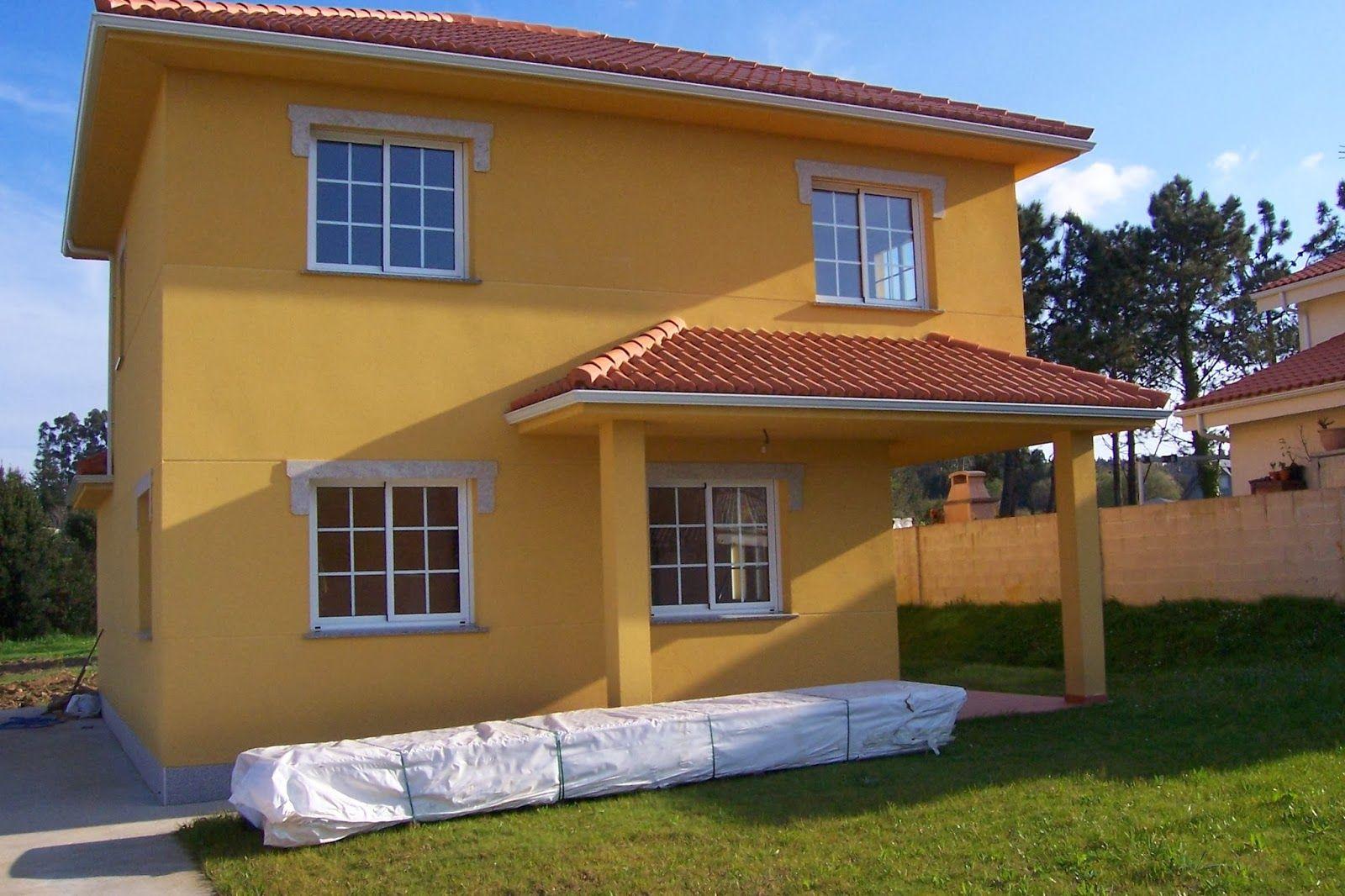 Resultado de imagen de color fachada casa ocre claro