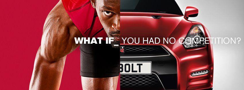 Usain Bolt Nissan Usain bolt, Nissan, Sports advertising