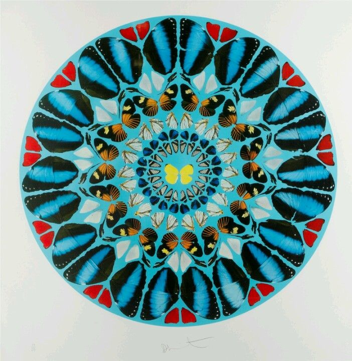 ad9f350c2f4e Damien Hirst   Contemporary Art   Pinterest   Rosace, Cercles et ...