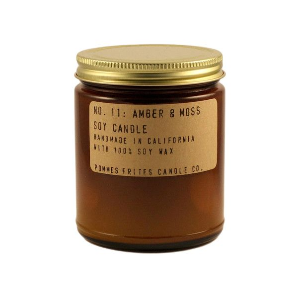 no. 11 // amber & moss // This scent smells clean, musky and masculine right out of the jar. Once burned, this candle will fill the room with notes of earthy amber and velvety oakmoss.