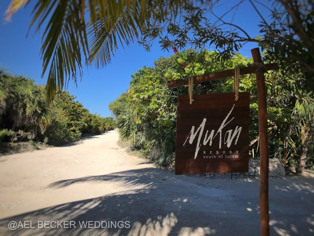 Road To Mukan Resort South Of Tulum Mexico Ael Becker Weddings