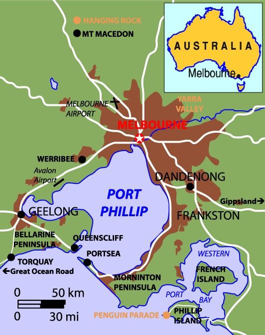 Map Of Australia Melbourne.Map Of Greater Melbourne Australia Places I Have Visited Termite