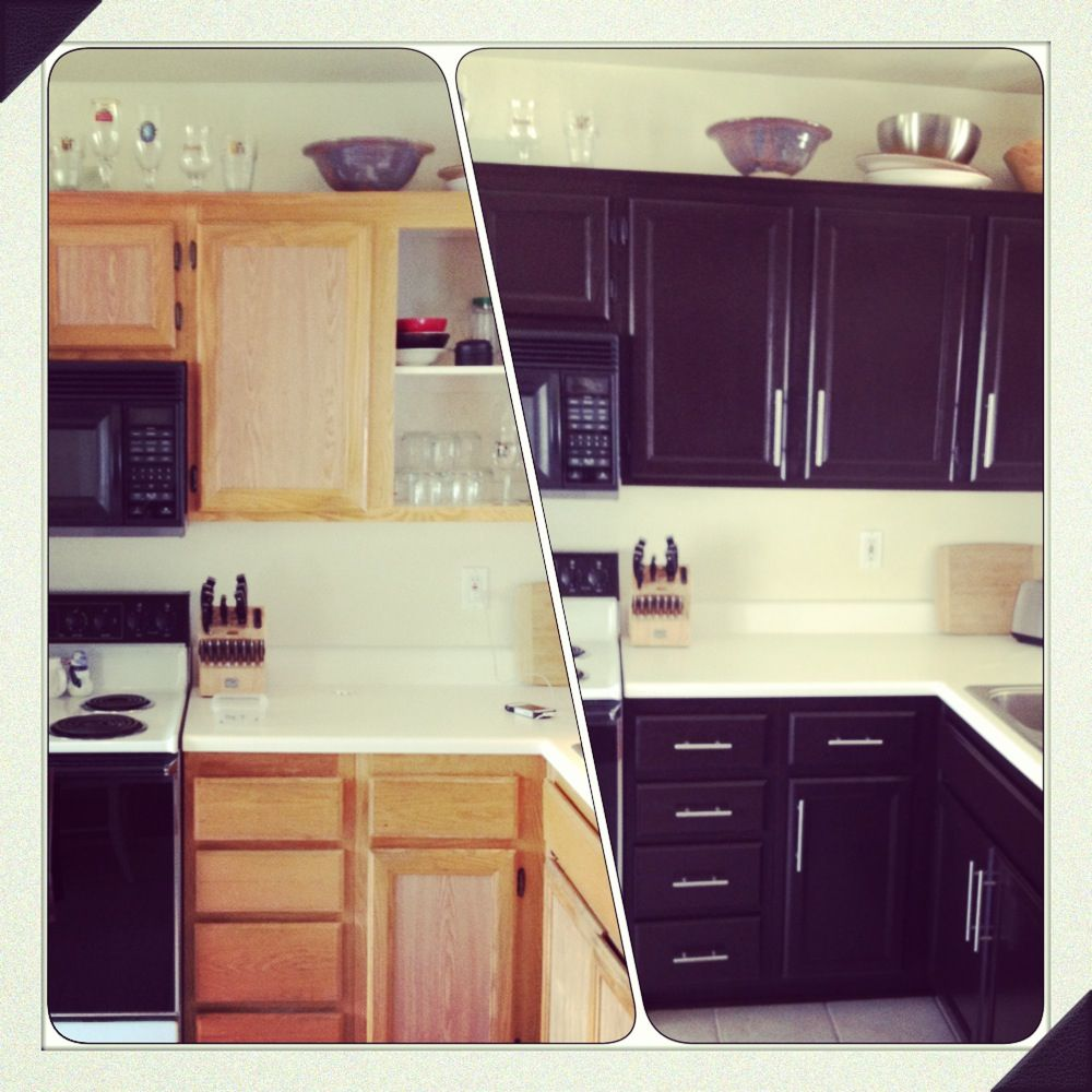 Kitchen Cabinet Makeover Ideas Paint: DIY Kitchen Cabinet Makeover