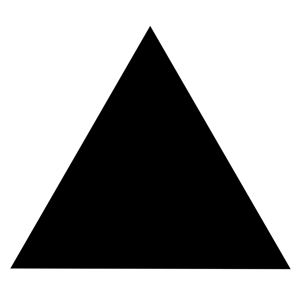 Filled In Equilateral Triangle Google Search Triangle Tattoo Triangle Shapes