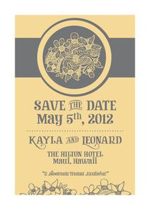 Image of Save-the-Date (Yellow and Grey Floral)