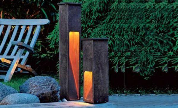 Gartenleuchte aus holz und kupfer ark belysning utvendig - Gartenlampe selber bauen ...