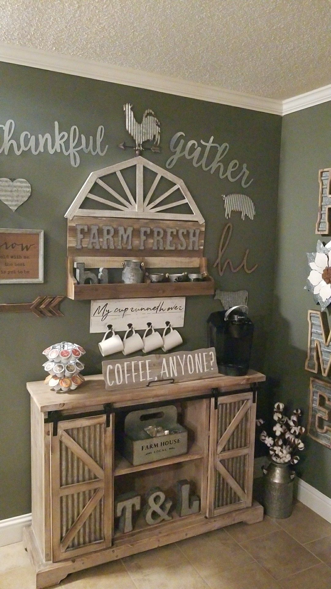 Farmhouse coffee bar! | Coffee bar home, Home coffee ...