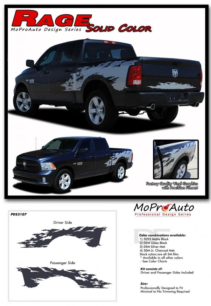 DODGE RAM RAM SOLID MoProAuto Pro Design Series Vinyl Graphics - Truck bed decals custombody graphicsdodge ram