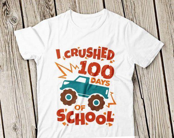 I crushed 100 days of school Svg, 100 days of school svg, Boy School svg, 100 days svg, 100 Days Shirt Design, Boy 100 days School svg file