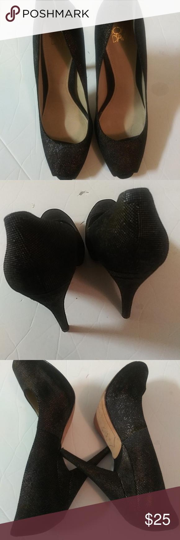 Black Heels Size 7M   Joan and david