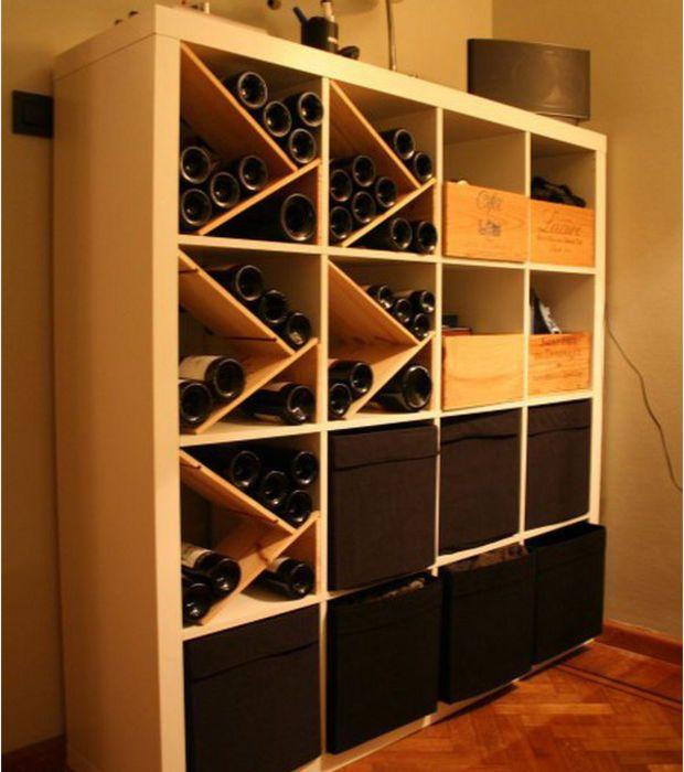 Ein Weinschrank aus dem Regal Einrichten und Wohnen Pinterest - ikea regale kallax einrichtungsideen