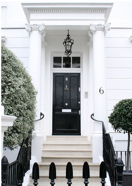 I loves me a glossy black front door! | Front Door | Pinterest ...