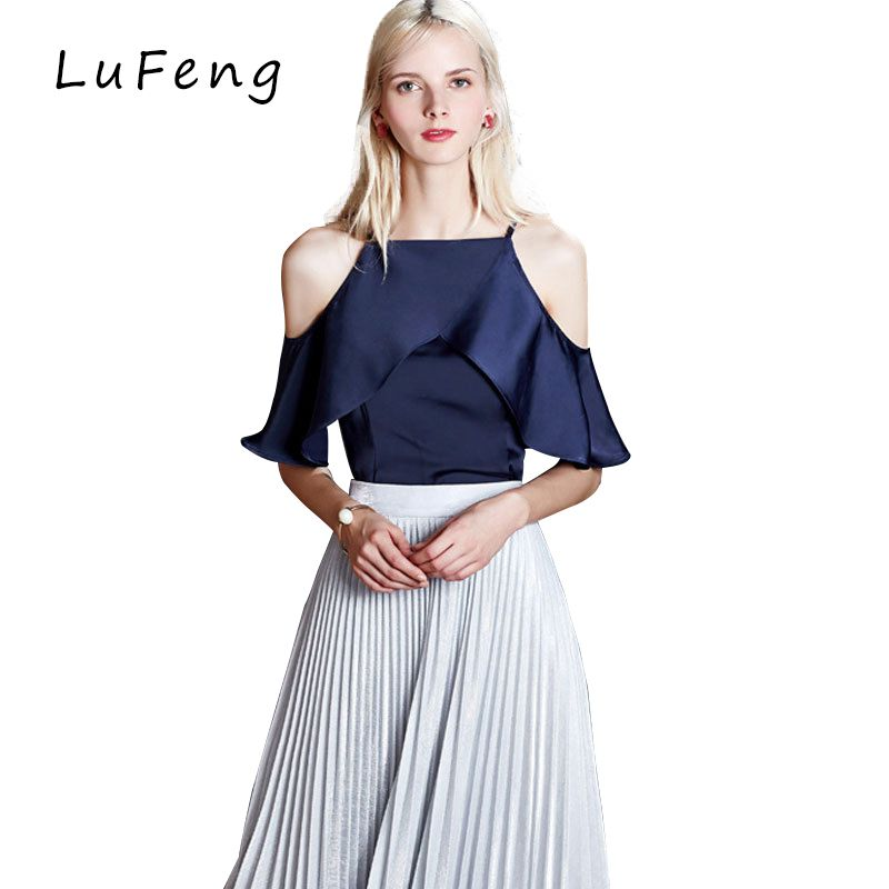 >> Click to Buy << Sexy Ruffle Off Shoulder Top Chiffon Blouse Women Cheap-Clothes-China Office White Chemise Femme Tunic Designer Shirts 1023-98 #Affiliate