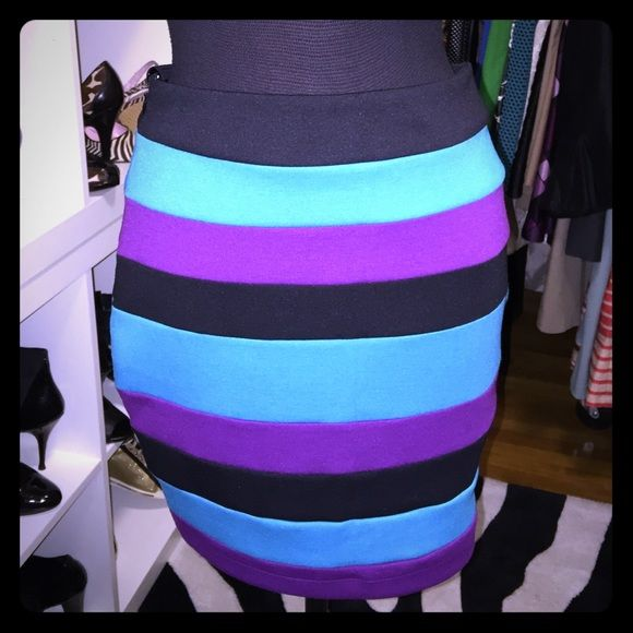New [unworn] Colorful Rampage fitted skirt - New [unworn] Colorful Rampage fitted skirt - size 9 [fits like a 7-8] Rampage Skirts