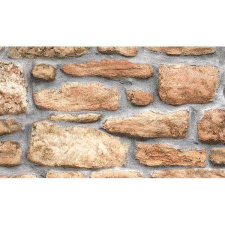 Rasch 8 in. x 10 in. Templier Grey Distressed Brick